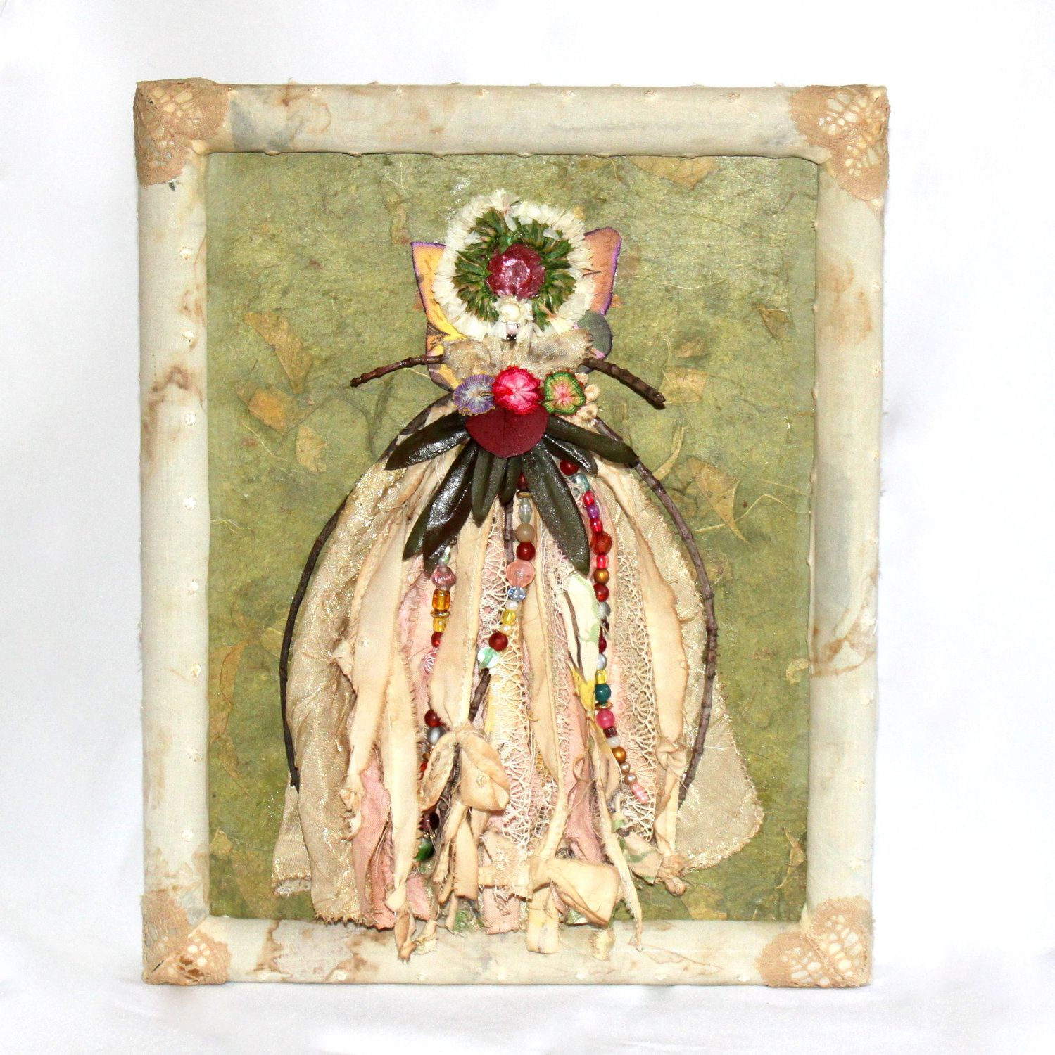 Children\'s wall art - A woodland fairy mixed media project made with ...