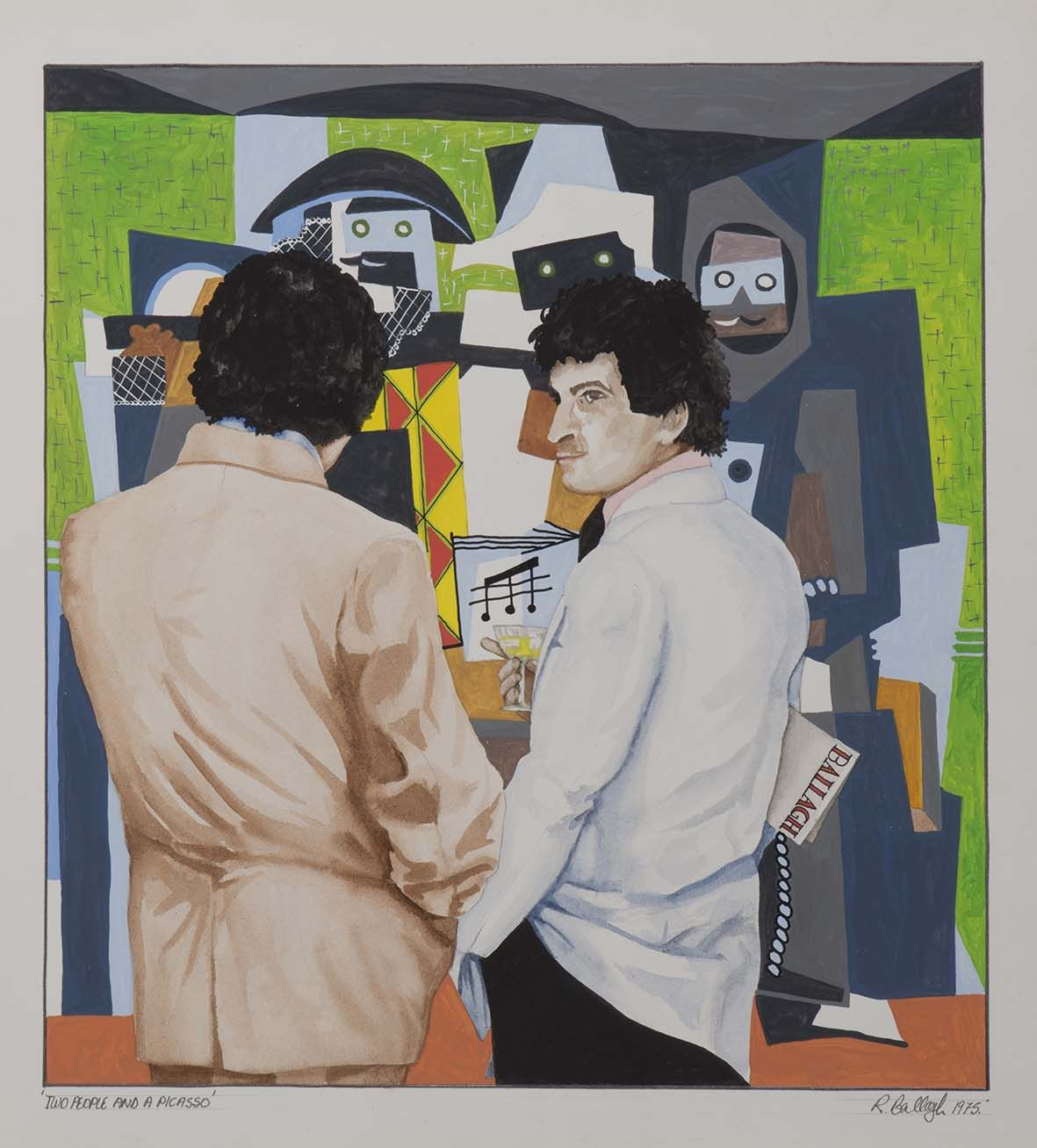 Robert ballagh b 1943 two people a picasso irish artart