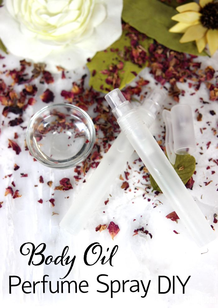 easy body oil perfume spray tutorial recette et si on jouait aux apprenties chimistes. Black Bedroom Furniture Sets. Home Design Ideas