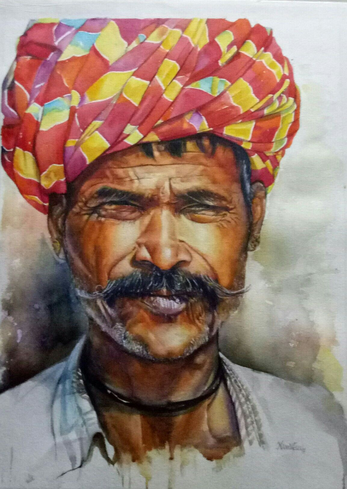 Niveditaa Pathak Watercolour Ajmer Faceof Marudher India