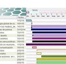 Calendario para un plan de comunicación