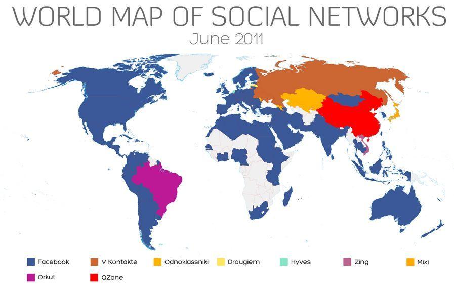 Map of the worlds Social Networks via @ForbesTech on.fb.me/wyaFRd #SocialMedia
