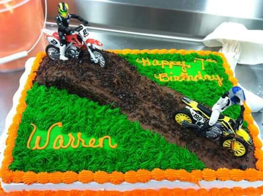 Dirt Bike Cake With Images Dirt Bike Birthday Bike Birthday