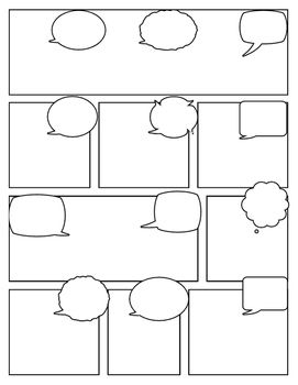Blank Comic Strip Comic Book Template Comic Strip Template