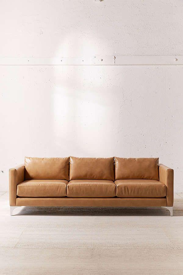 Sleeper Sofas Chamberlin Recycled Leather Sofa