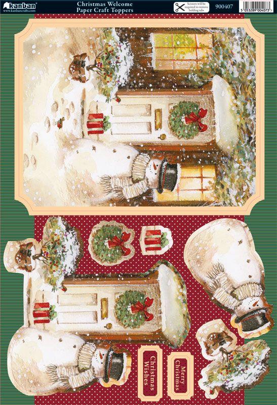 Christmas card topper and 3D embelishments Christmas