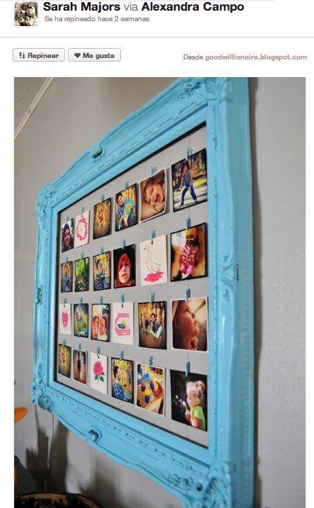 Decorar con cuadros 33 ideas para enmarcar fotos ideas para manualidades and decoration - Ideas para poner fotos ...