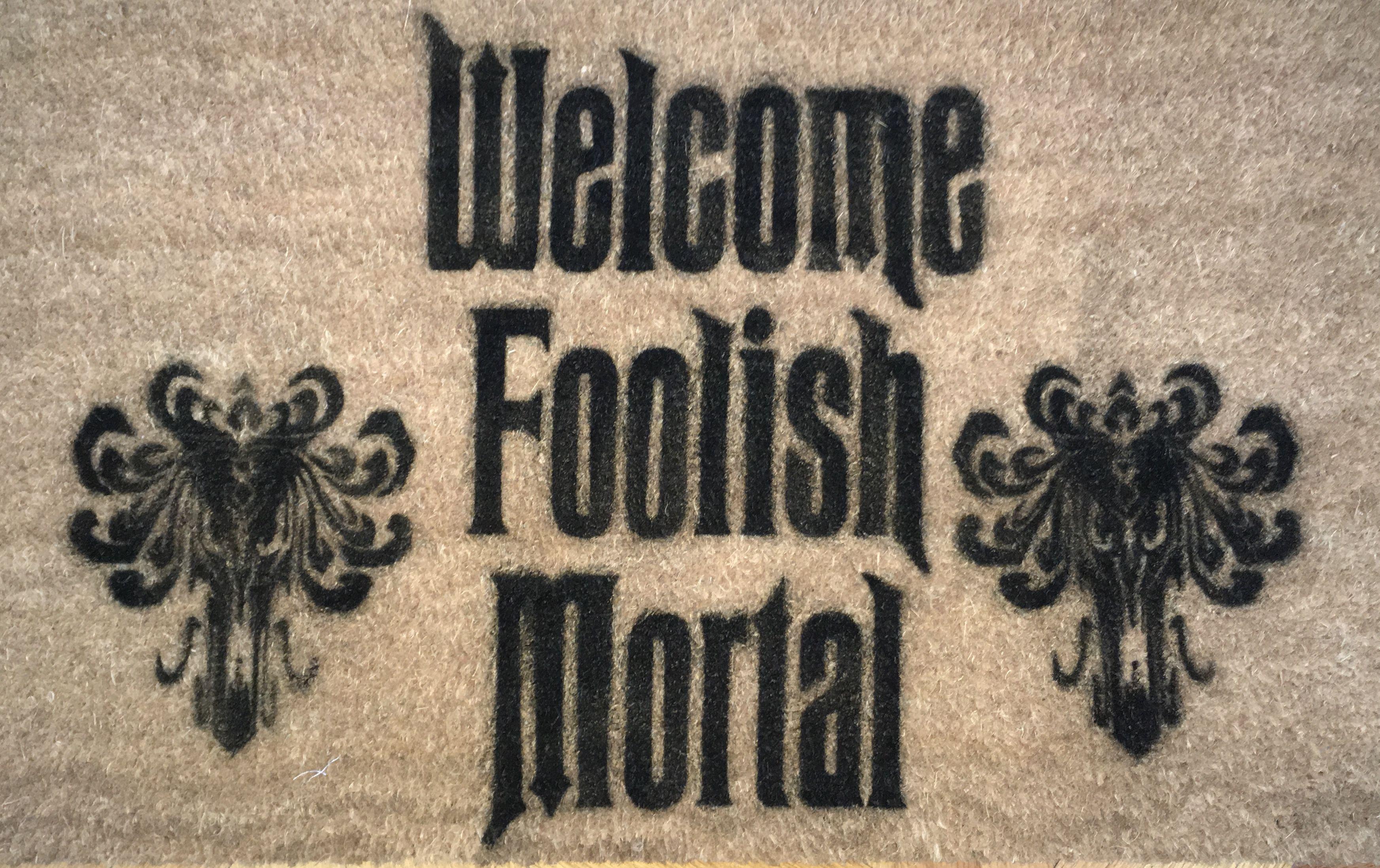 Halloween Doormat Welcome Foolish Mortal Hauntedmansion