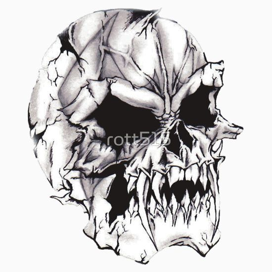Vampire Skull Essential T Shirt By Rott515 Skulls Drawing Vampire Skull Skull And Rose Drawing