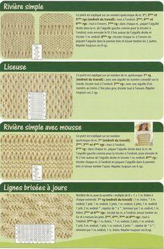 7 Point De Jour Riviere Lace Knitting Stitches Tricot Crochet
