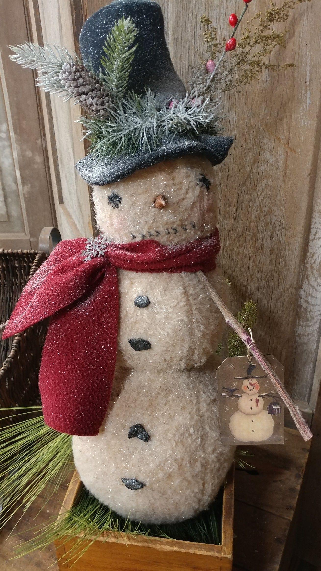 Primitive Snowmen Primitive Snowmen Snowman Crafts Snowman Wreath Christmas Christmas Decor Ch In 2020 Primitive Country Christmas Christmas Crafts Primitive Christmas
