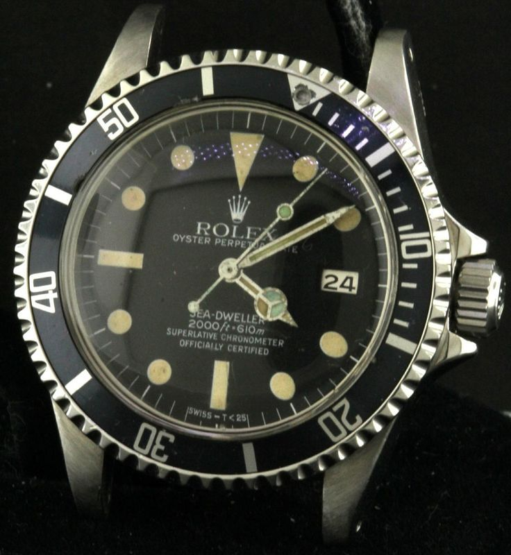 Rolex Sea-Dweller 1665 vintage 1980 SS men's watch w/ date