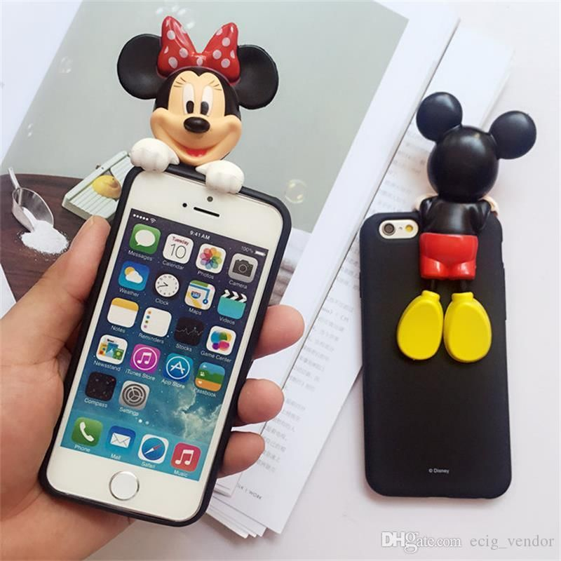 Clothes, Shoes & Accessories Flight Tracker Minnie Mickey Mouse Mirror Case For Iphone 6 S 6s X 10 7 8 Plus 6plus 6splus 7plus 8plus Se 5s Cover Silicone Slim Housing Modern Design Kids' Clothes, Shoes & Accs.