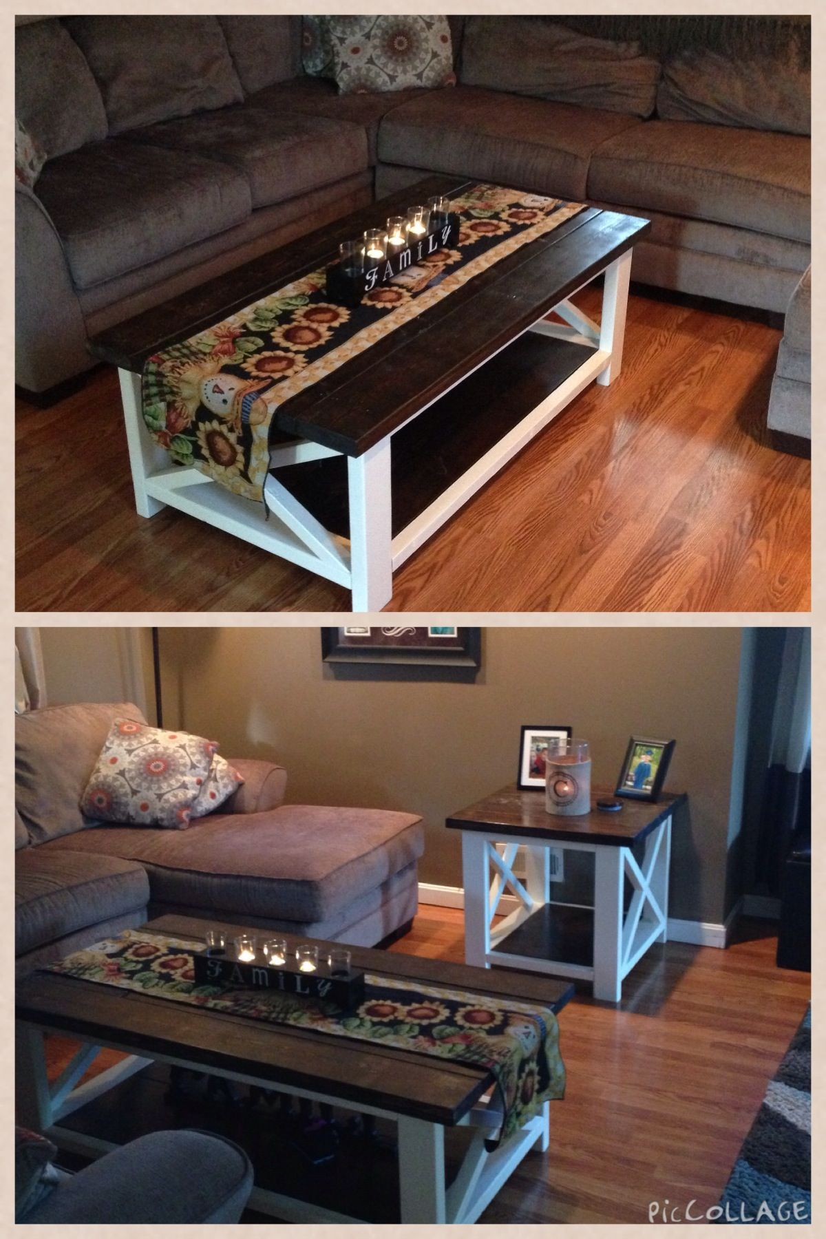 Handmade Coffee Table and End Table Set in Peyton's Garage