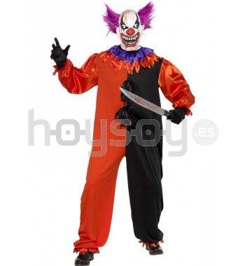 #Disfraz de #payaso espeluznante del Circo Siniestro. Este disfraz incluye: mono y máscara #Halloween #Disfraces