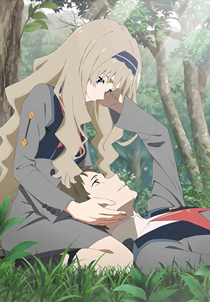 Zero two... the anime  one of the couple...  must watch anime...