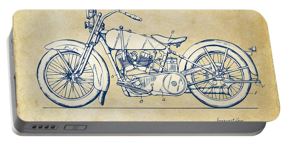 Vintage Harley Davidson Motorcycle 1928 Patent Artwork Portable Battery Charger For Sale By Nikki Smith Vintage Harley Davidson Motorcycles Vintage Harley Davidson Classic Harley Davidson