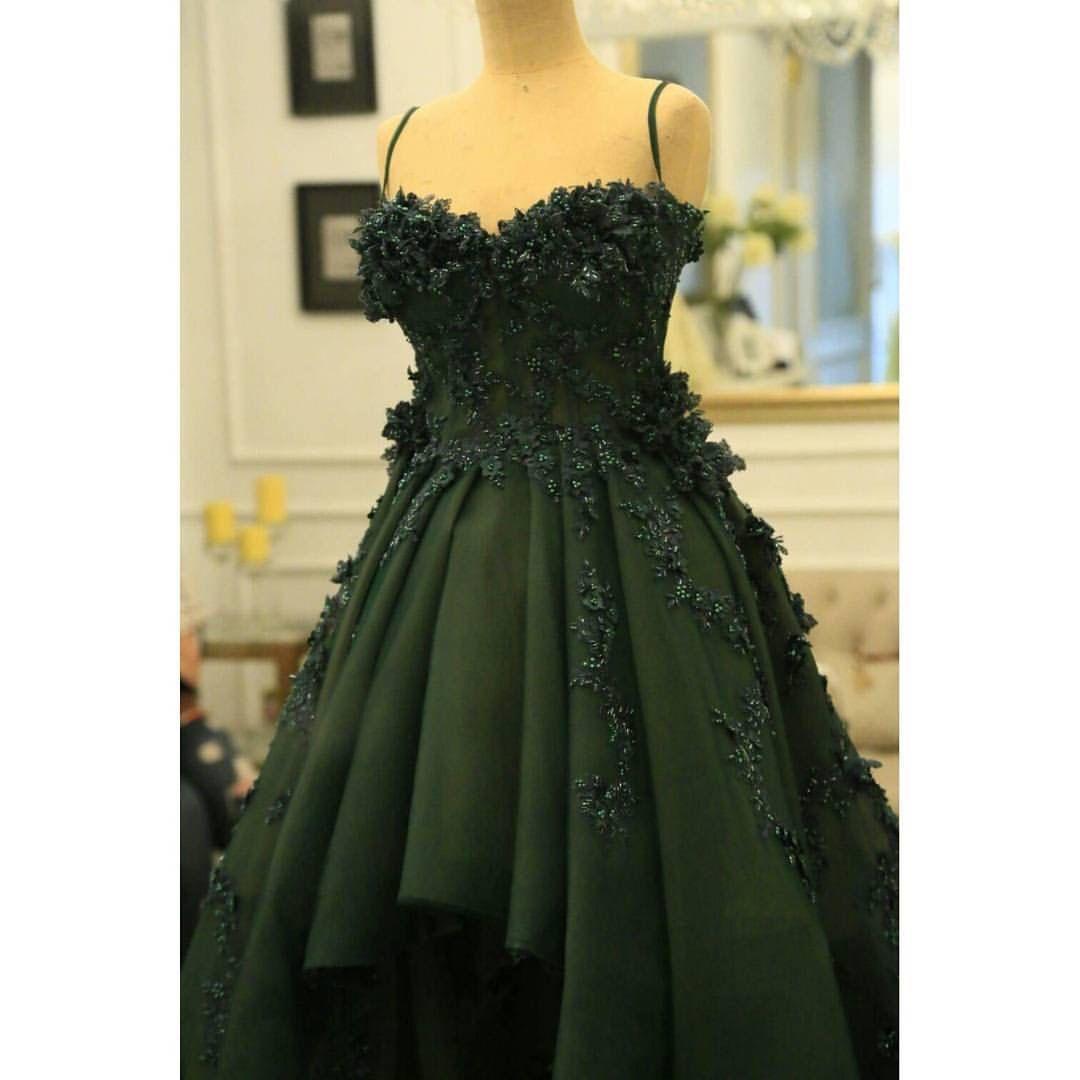 Royal Green Color Dress