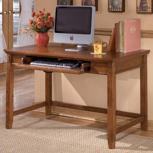 Cross Island Small Leg Desk With Keyboard Drawer By Ashley Furniture Furniture And App Wooden Computer Desks Small Home Office Desk Home Office Computer Desk