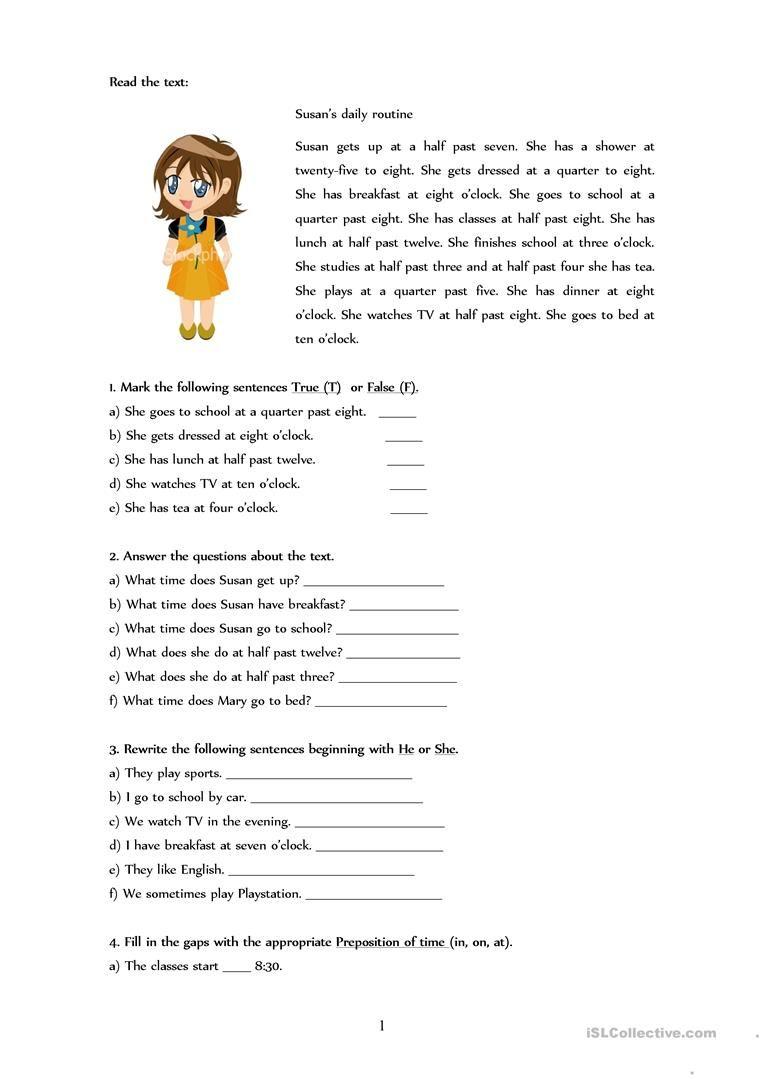 Daily Routines Worksheet Free Esl Printable Worksheets Made By Teachers Daily Routine Daily Routine Worksheet Routine [ 1079 x 763 Pixel ]