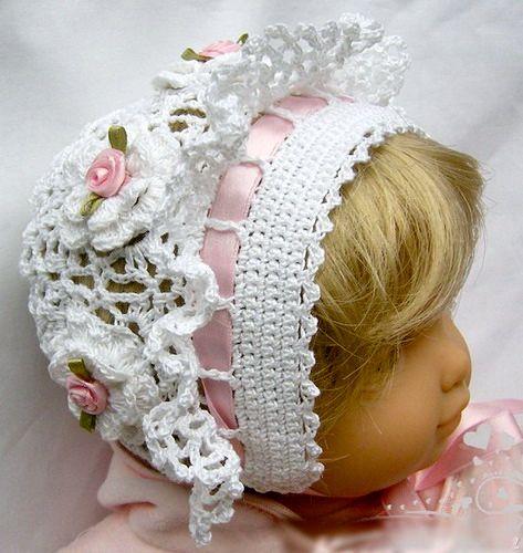 Crochet Baby Christening Bonnet Hat Beanie,2300 - The Christening ...