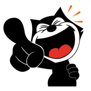 Funny Felix The Cat Logo Vector Cat Logo Vector Logo Felix The Cats