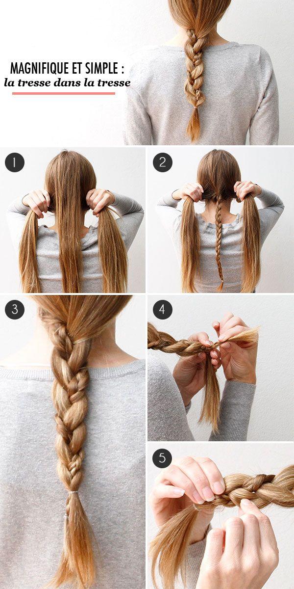 Tresse Boheme Tuto Hair Pinterest Chignons - Diy chignon boheme