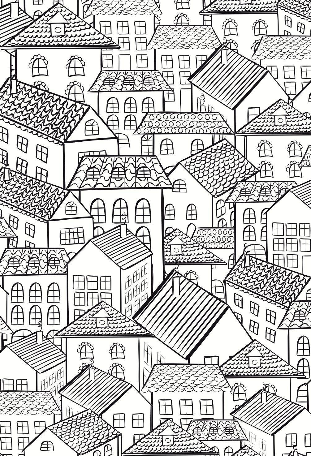 Colouring Books for Adults | Colorear, Casas y Mandalas
