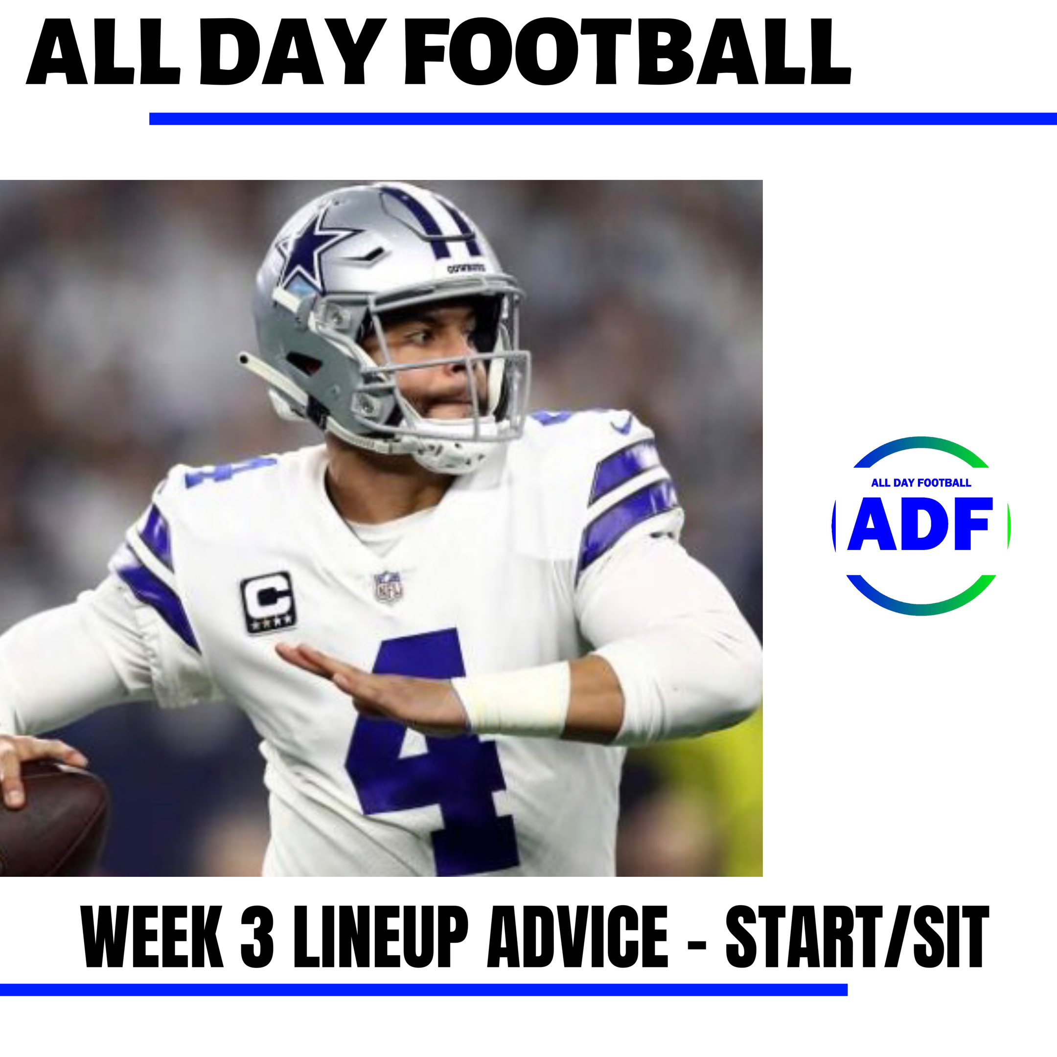 Just Released Fantasy Football Week 3 Lineup Advice Start Sit Allday Football Blogspot Com Nfl Fantasyfootball Teams Revie Fantasy Football Football