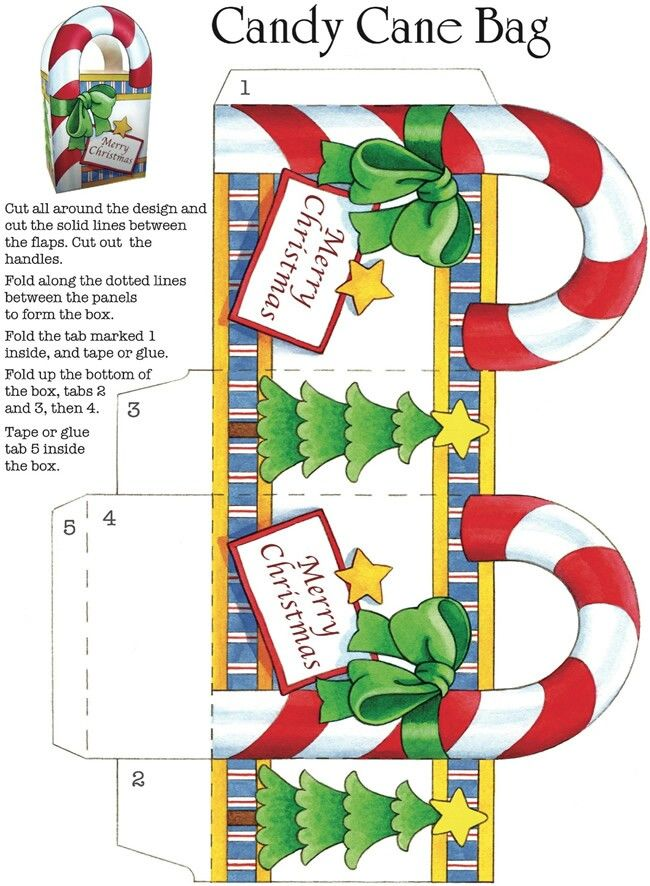 Candy Cane Bag Template Stencils And Templates Pinterest