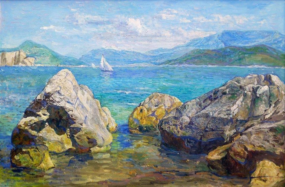 Anatoly Dverin Seashore Paintings Ocean Painting Art