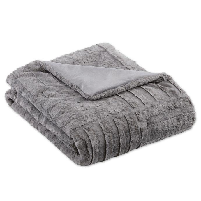 Madison Park Arctic Plush Down Alternative Throw Blanket Throw