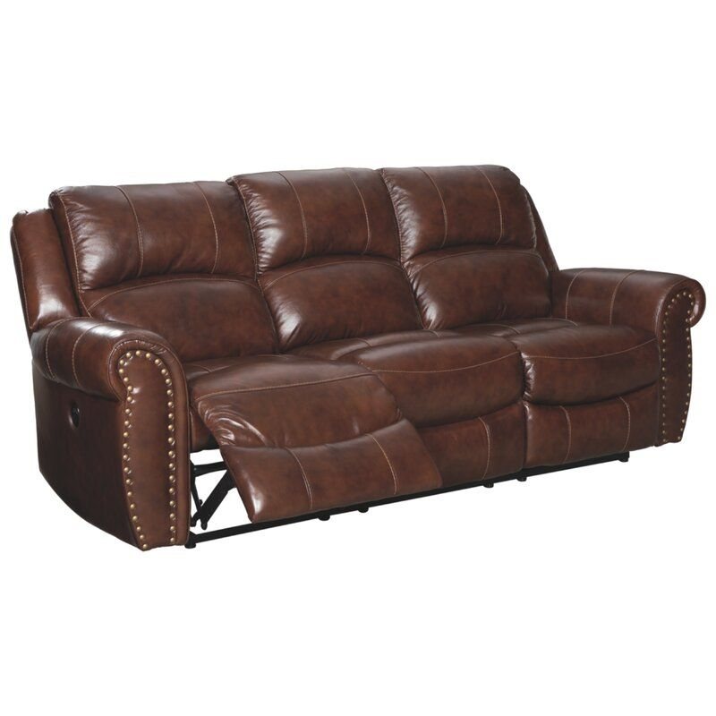 Dunford Leather Reclining Sofa In 2020 Reclining Sofa Leather Reclining Sofa Rolled Arm Sofa