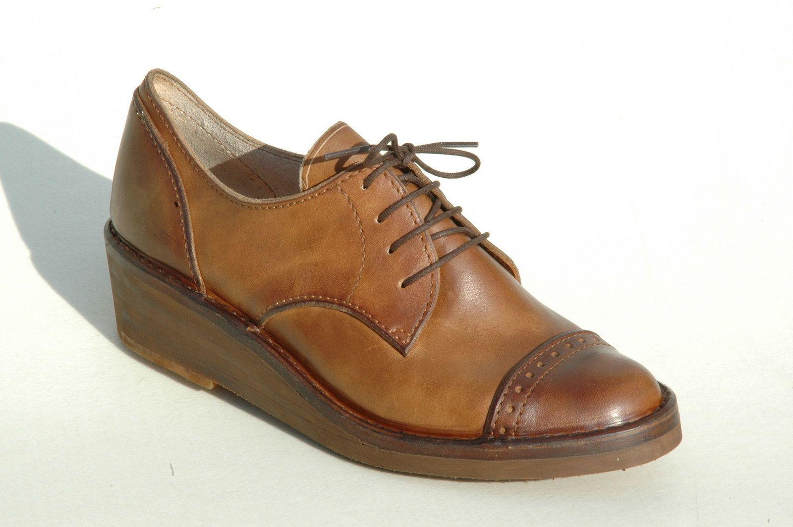 91681b0738ec Dámské polobotky   Retro Pohodlné ručně šité boty na míru z kvalitní pravé  kůže. Dámské