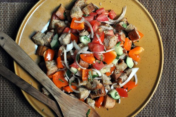 vegan panzanella - something good to do with the last half of that loaf of bread