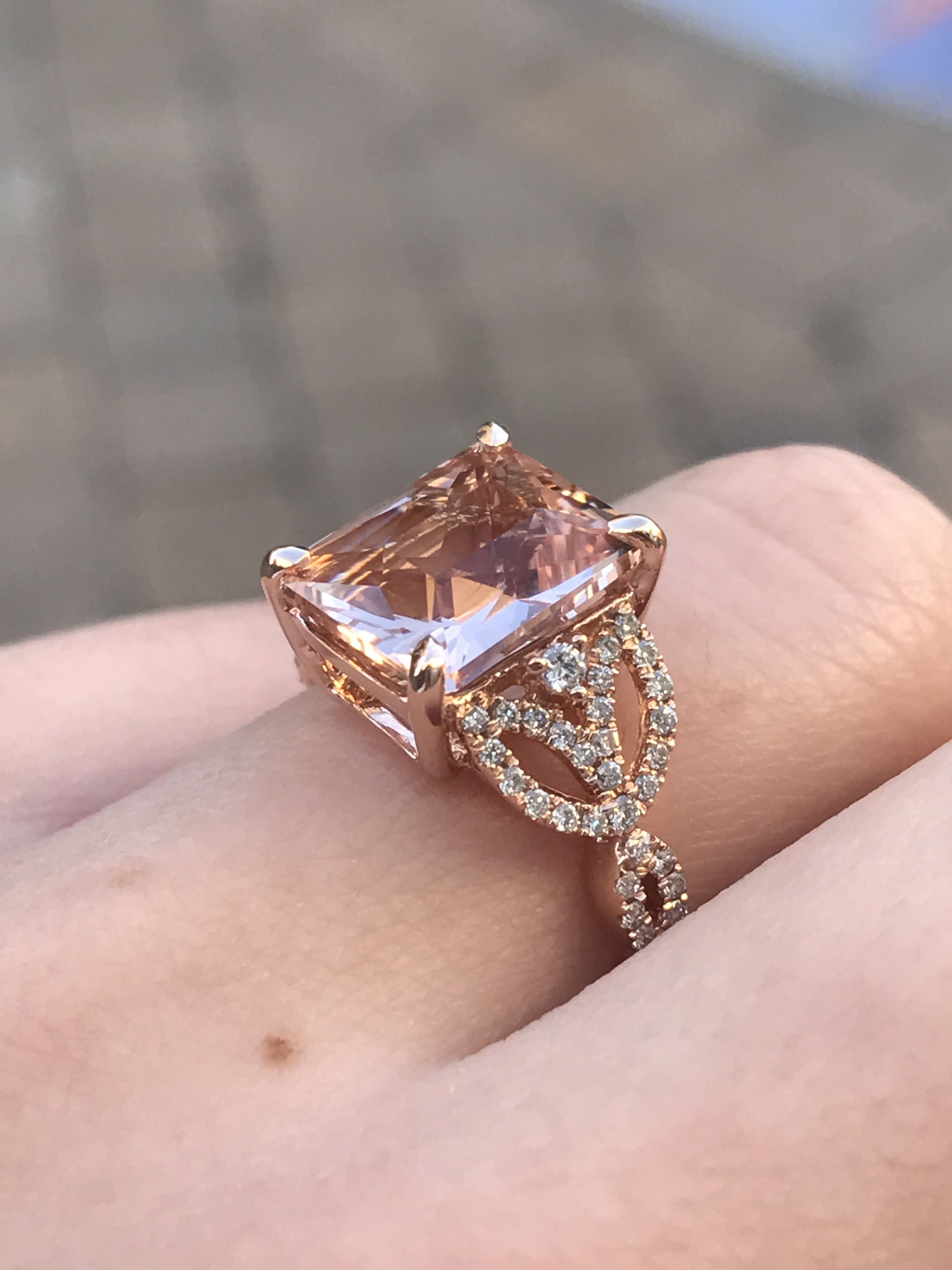 Nature inspired Morganite engagement ring by Princess Bride Diamonds ...