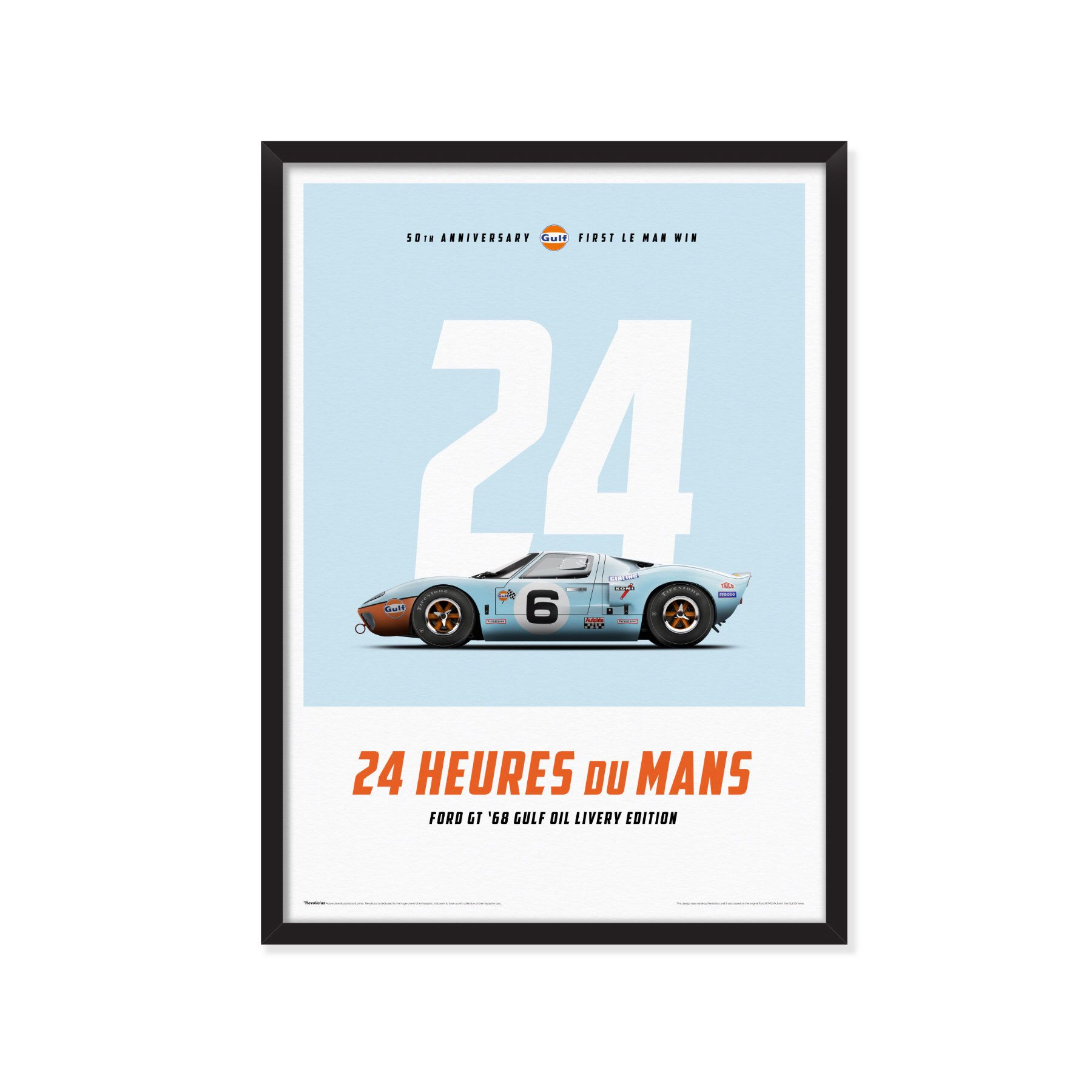 Ford Gt Le Mans 50th Anniversary First Le Mans Win Car Poster