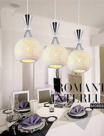 JJ modernas lámparas de techo LED 3 Jefes Focos colgantes lámpara de ...