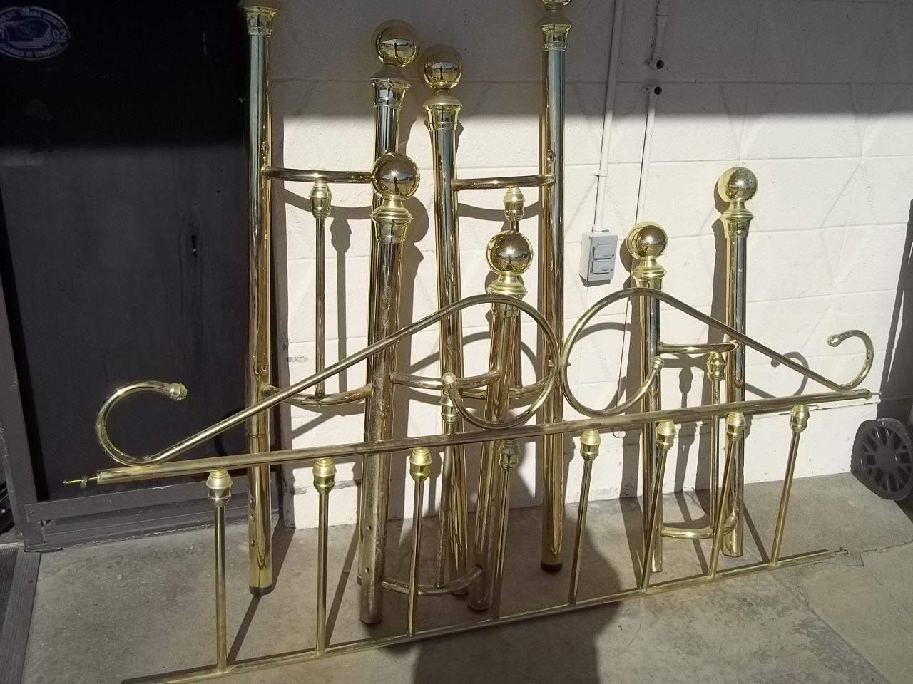 Cal king brass headboard and footboard 10056   Products   Brass