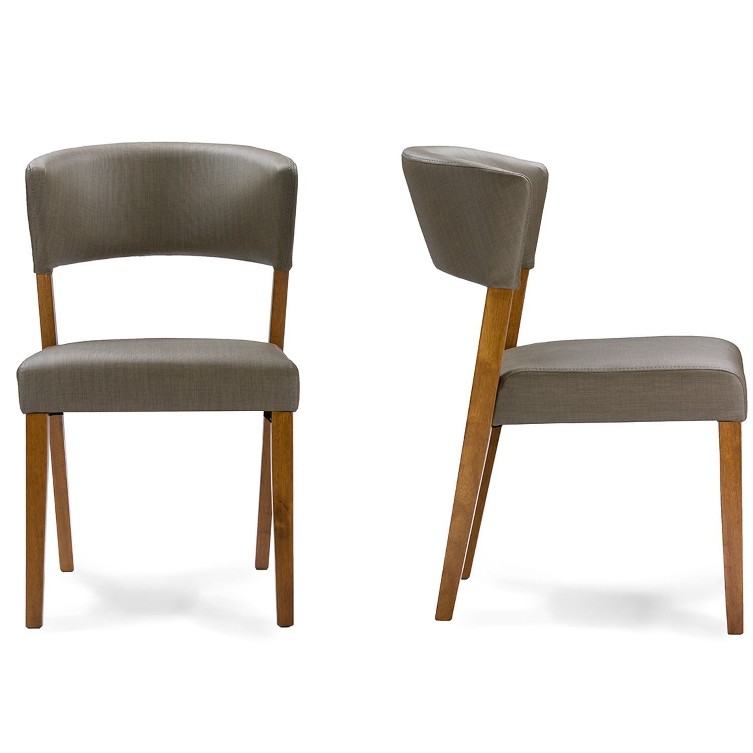 The Montreal Mid Century Dining Chairs Have Curved Backrest And Wide Seat Cushions They Are Ideal For Your Rooms Quick Elegant Makeover