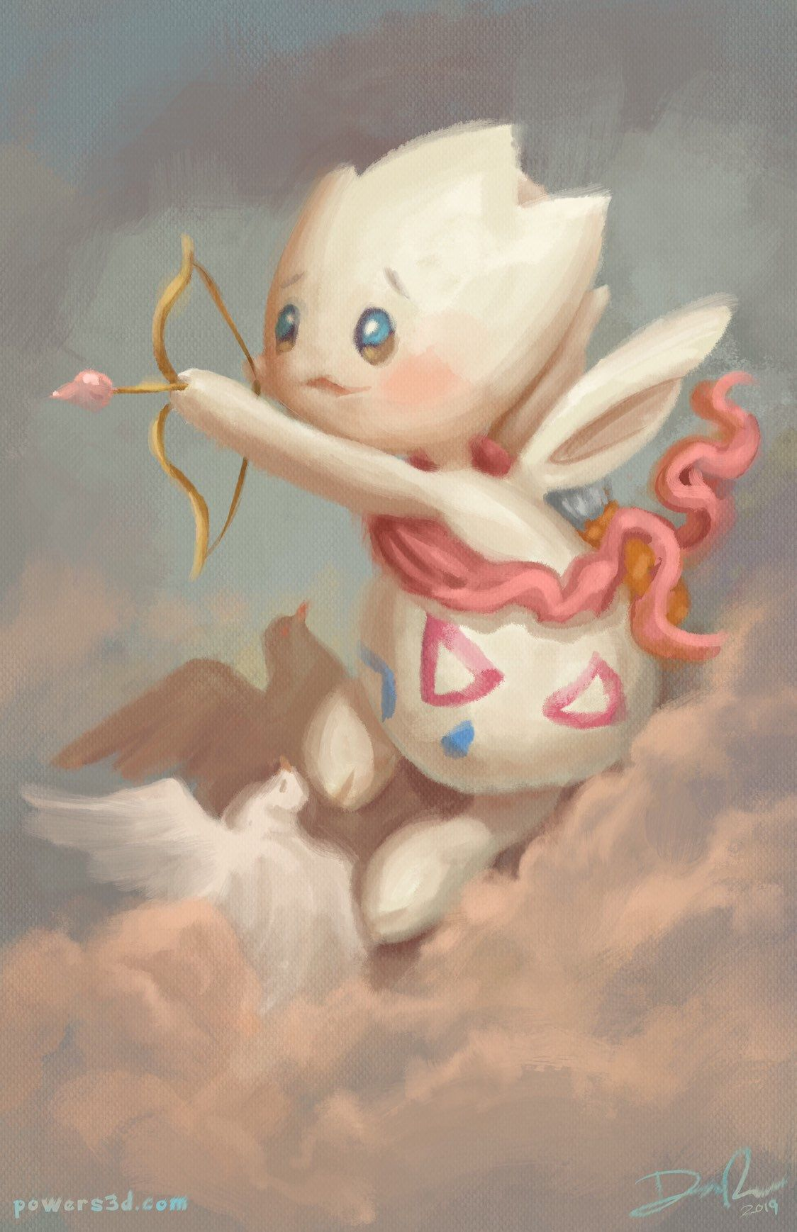 Cupid Art Print | Pokemon | Art, Art prints, Pokemon