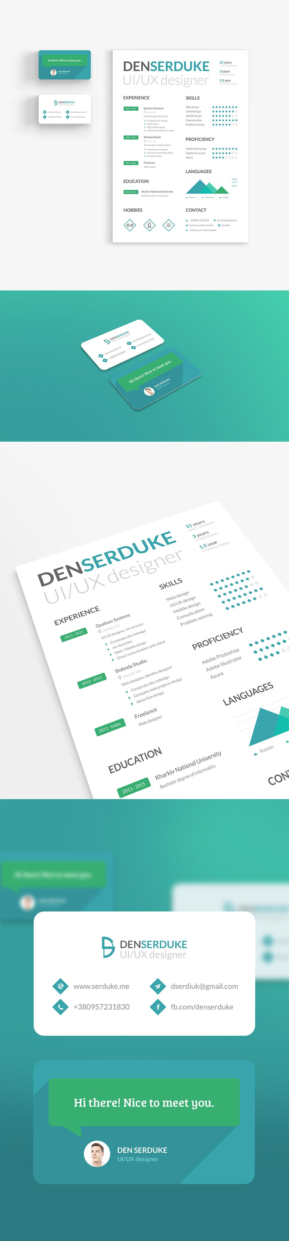 cool 15  best free resume    cv templates psd