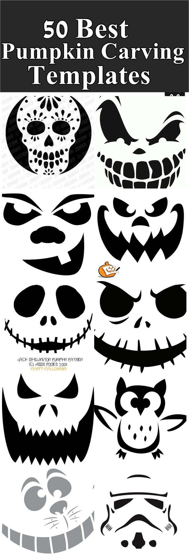 Best pumpkin Carving Templates , scary templates, scary pumpkin ...
