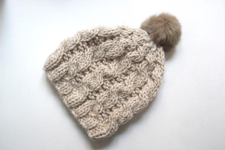 Tutorial de lana: tejamos un gorro trenzado | CROCHET Y DOS AGUJAS ...