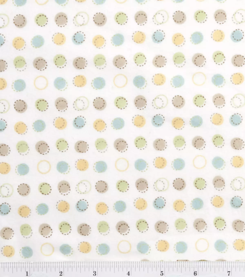 Nursery Flannel Fabric Oh Baby Sch