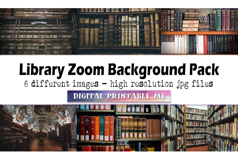 Library Zoom Background Pack 6 Digital Download Images Etsy Digital Printables Digital Graphics Digital