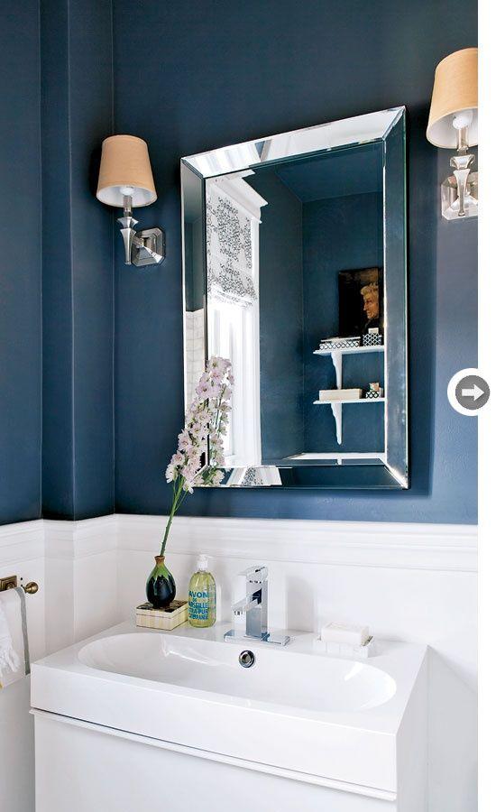 teal bathroom silver mirror  gray bathroom decor