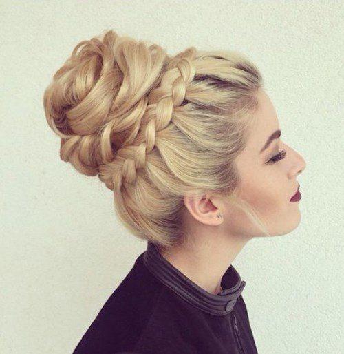 Pin de Makwana raksha en Twisted braid Pinterest Peinados, Moños