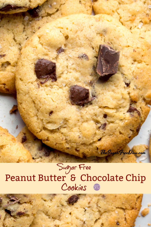 Sugar Free Peanut Butter Chocolate Chip Cookies sugarfree