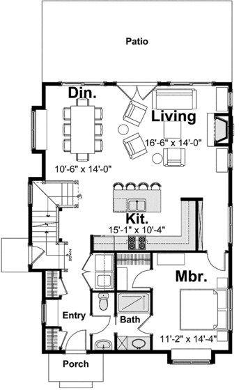 planos de casas 3 dormitorios 2 baños